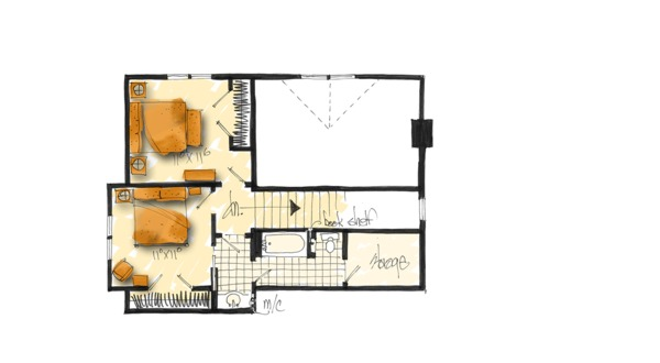 Country Floor Plan - Upper Floor Plan Plan #942-46