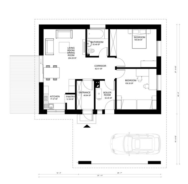 Modern Floor Plan - Main Floor Plan Plan #906-14