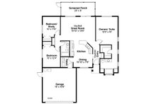 Mediterranean Floor Plan - Main Floor Plan Plan #124-433