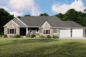 Craftsman Exterior - Front Elevation Plan #1064-83