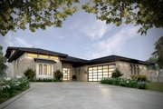 Contemporary Style House Plan - 4 Beds 4 Baths 3349 Sq/Ft Plan #935-14 Exterior - Front Elevation