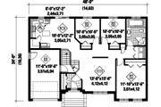European Style House Plan - 3 Beds 1 Baths 1297 Sq/Ft Plan #25-4463 Floor Plan - Main Floor Plan