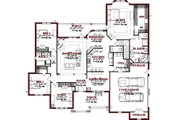 Traditional Style House Plan - 4 Beds 2.5 Baths 2667 Sq/Ft Plan #63-198 Floor Plan - Main Floor Plan