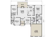 Traditional Floor Plan - Main Floor Plan Plan #419-145