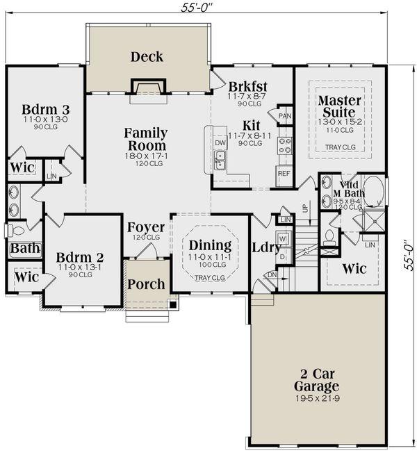 Traditional Floor Plan - Main Floor Plan #419-145