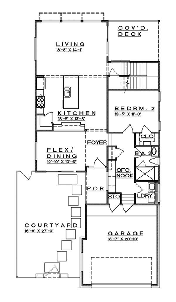 Contemporary Floor Plan - Main Floor Plan #935-7