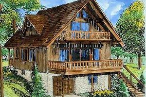 Cottage Exterior - Front Elevation Plan #320-293