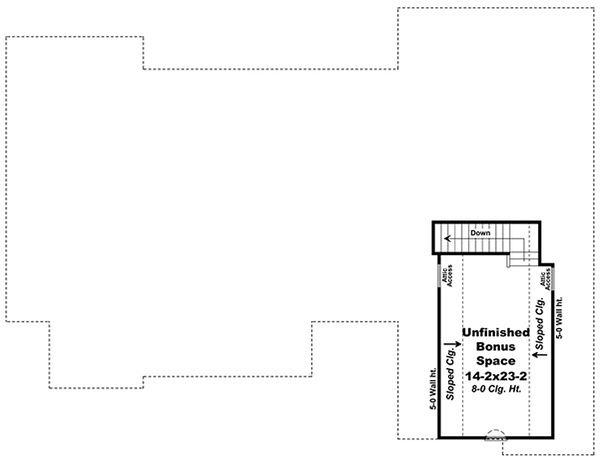 Southern Floor Plan - Upper Floor Plan Plan #21-318