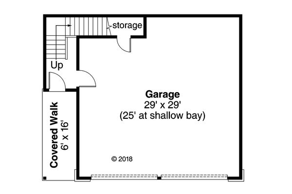 Craftsman Floor Plan - Main Floor Plan Plan #124-1103