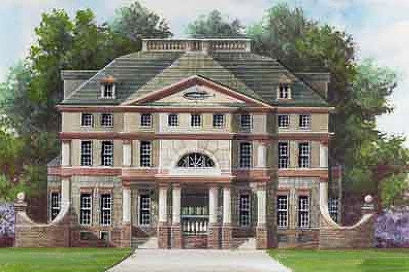 Dream House Plan - European Exterior - Front Elevation Plan #119-134