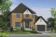 European Style House Plan - 3 Beds 2 Baths 1927 Sq/Ft Plan #25-4720 Exterior - Front Elevation