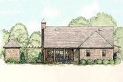 Country Style House Plan - 3 Beds 2 Baths 2062 Sq/Ft Plan #406-140 Exterior - Rear Elevation