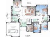 Mediterranean Style House Plan - 3 Beds 2.5 Baths 2225 Sq/Ft Plan #23-2211 Floor Plan - Main Floor Plan