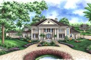 Southern Style House Plan - 5 Beds 6 Baths 9992 Sq/Ft Plan #27-534 Exterior - Front Elevation