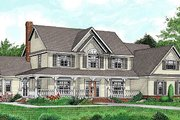 Country Style House Plan - 5 Beds 2.5 Baths 3464 Sq/Ft Plan #11-232 Exterior - Front Elevation