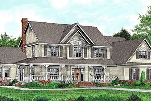 Country Exterior - Front Elevation Plan #11-232