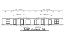 Dream House Plan - Traditional Exterior - Rear Elevation Plan #20-2381