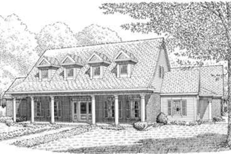 Colonial Exterior - Front Elevation Plan #410-201