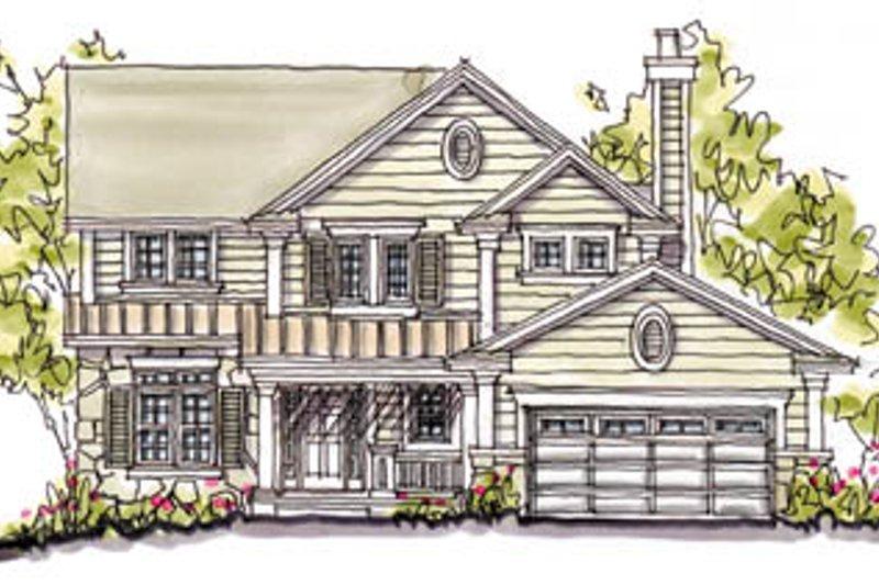 Home Plan - Craftsman Exterior - Front Elevation Plan #20-240