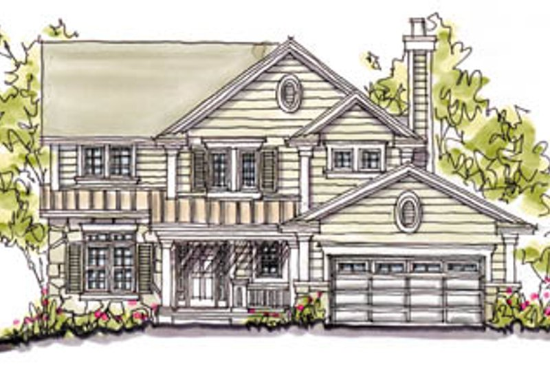 Architectural House Design - Craftsman Exterior - Front Elevation Plan #20-240