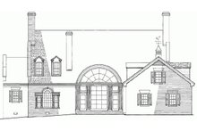 Country Exterior - Rear Elevation Plan #137-233