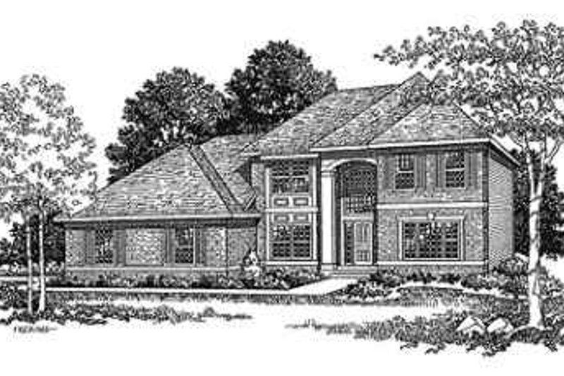 Dream House Plan - Traditional Exterior - Front Elevation Plan #70-337