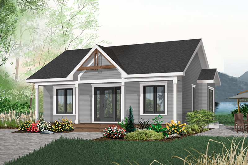 Cottage Exterior - Front Elevation Plan #23-105