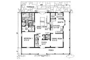 Country Style House Plan - 3 Beds 2.5 Baths 1982 Sq/Ft Plan #315-104 Floor Plan - Main Floor Plan