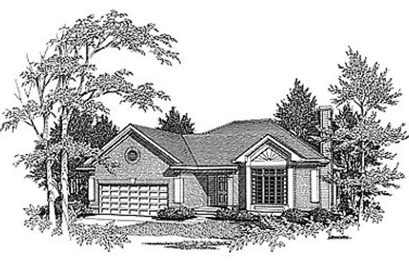 Traditional Exterior - Front Elevation Plan #70-133