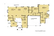 Traditional Style House Plan - 6 Beds 5.5 Baths 5765 Sq/Ft Plan #1066-78 Floor Plan - Main Floor Plan