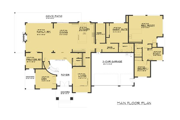 Traditional Floor Plan - Main Floor Plan Plan #1066-78