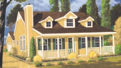 Country Style House Plan - 2 Beds 2 Baths 1410 Sq/Ft Plan #3-115 Exterior - Front Elevation