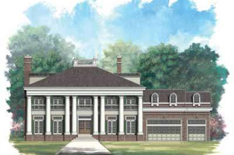 Southern Style House Plan - 4 Beds 4 Baths 5729 Sq/Ft Plan #119-225 Exterior - Front Elevation