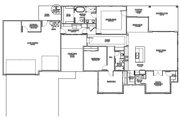 Modern Style House Plan - 4 Beds 2.5 Baths 2210 Sq/Ft Plan #1073-11 Floor Plan - Main Floor Plan