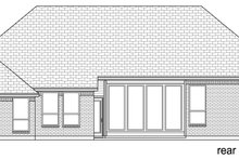 European Exterior - Rear Elevation Plan #84-589