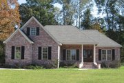European Style House Plan - 3 Beds 2 Baths 2000 Sq/Ft Plan #430-44 Exterior - Front Elevation