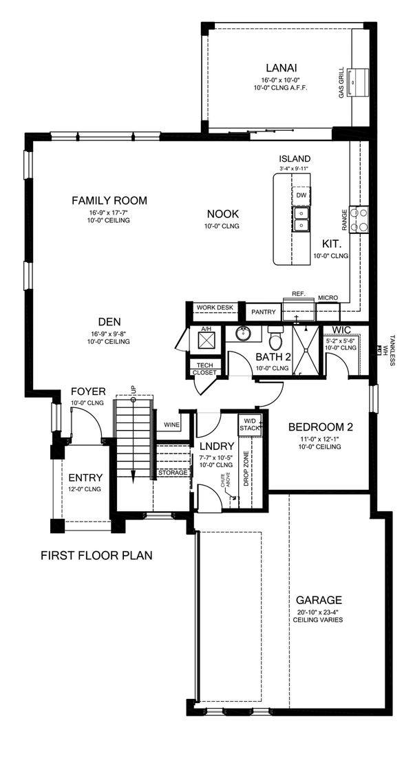 Mediterranean Floor Plan - Main Floor Plan Plan #1058-172