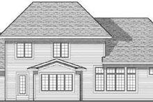 Colonial Exterior - Rear Elevation Plan #70-622
