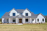 Farmhouse Style House Plan - 4 Beds 4.5 Baths 3860 Sq/Ft Plan #63-430 Exterior - Front Elevation