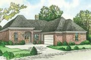 European Style House Plan - 3 Beds 2 Baths 1900 Sq/Ft Plan #15-150 Exterior - Front Elevation