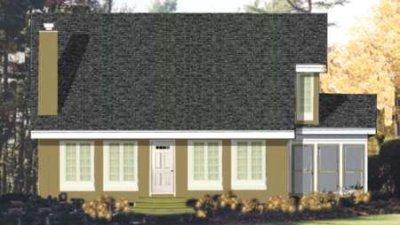 Bungalow Exterior - Front Elevation Plan #3-167