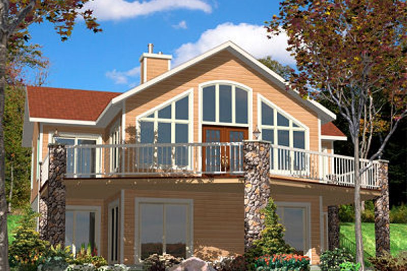 Contemporary Style House Plan - 3 Beds 2.5 Baths 2144 Sq/Ft Plan #138-224 Exterior - Front Elevation