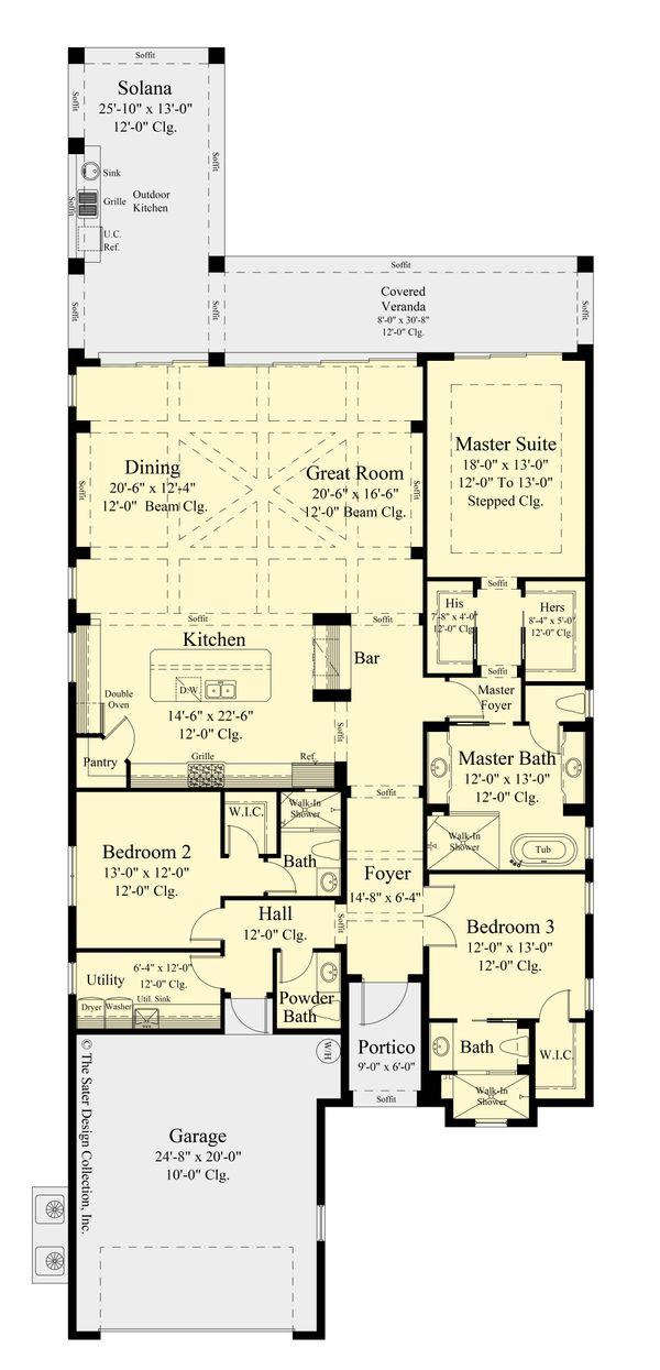 Architectural House Design - Ranch Floor Plan - Main Floor Plan #930-525