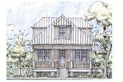 Beach Style House Plan - 3 Beds 3 Baths 1413 Sq/Ft Plan #536-1 Photo