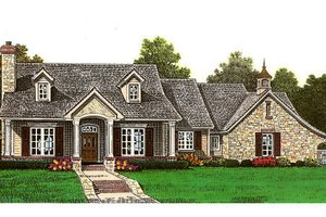 European Exterior - Front Elevation Plan #310-655