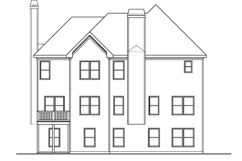 Farmhouse Exterior - Rear Elevation Plan #419-257 - Houseplans.com