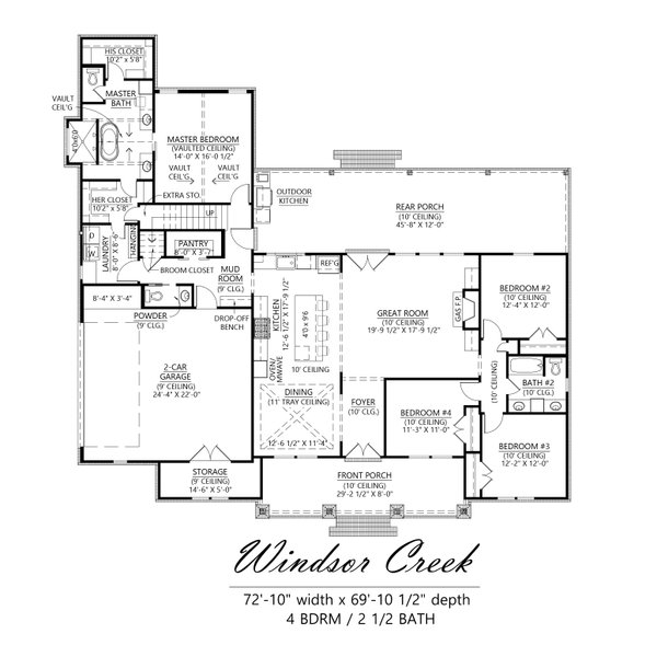 Farmhouse Floor Plan - Main Floor Plan #1074-50