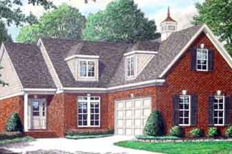 Dream House Plan - Colonial Exterior - Front Elevation Plan #34-178