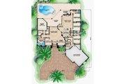 European Style House Plan - 4 Beds 3.5 Baths 4824 Sq/Ft Plan #27-568 Floor Plan - Main Floor Plan