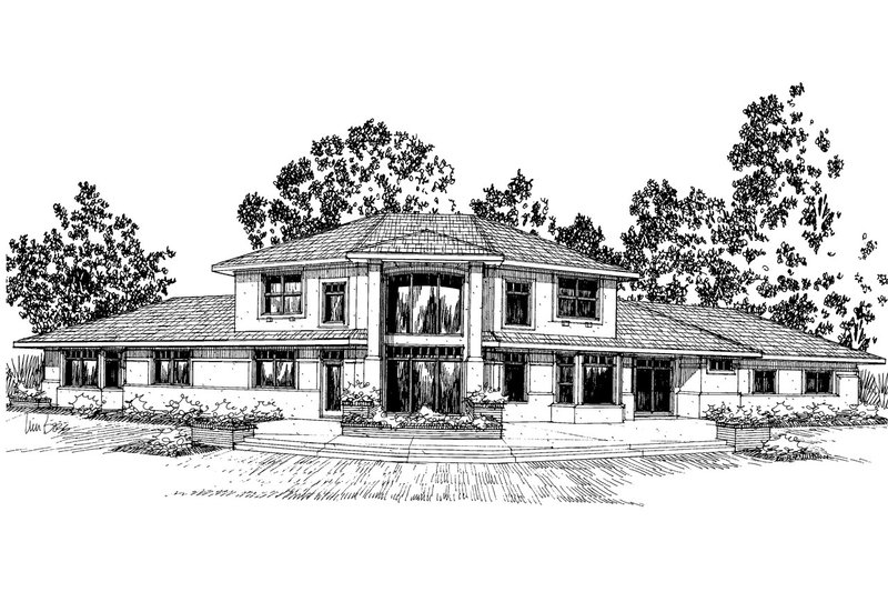 Dream House Plan - Exterior - Front Elevation Plan #124-322